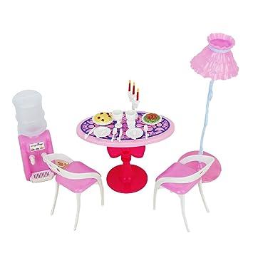 Gazechimp Miniatur Puppenhaus Esszimmer Möbel Spielset für Barbie Puppe  Haus Zubehör  Amazon.de  Spielzeug a3c20f3a56