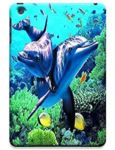 Couple Dolphin Swimming under the sea cell phone cases for Apple Accessories iPadmini iPad Mini