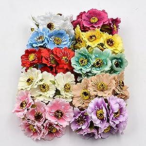 Artificial Flowers Roses Wedding Decoration Party Decorative Home Decoration Festive Decoration Silk Cherry Bouquet 30PCS 4CM 16