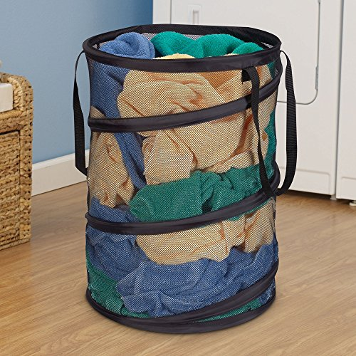 household essentials pop up collapsible mesh laundry. Black Bedroom Furniture Sets. Home Design Ideas