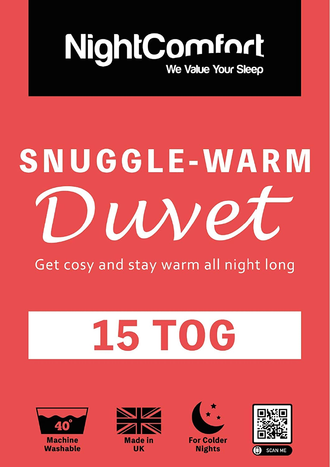 Double Night Comfort 15 Tog Snuggle Ultra Warm Duvet Winter Quilt Single Double King Super King Size