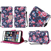 HR Wireless Case for Apple iPhone 6 Plus/6s Plus - Retail Packaging - Tropical Romantic Colorful Roses Floral