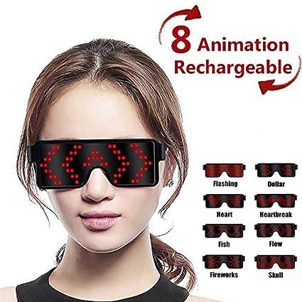 Amazon.com: EONLYX - Gafas LED para fiestas, con 8 modos ...