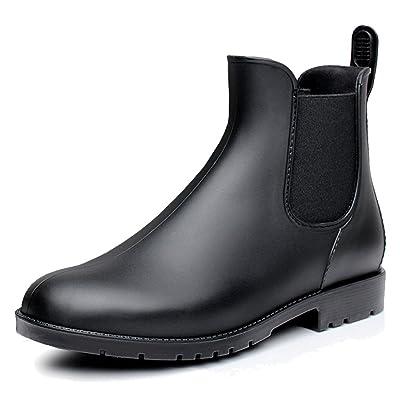 fereshte Women's Short Ankle Rain Boots Waterproof Rubber Chelsea Booties | Rain Footwear