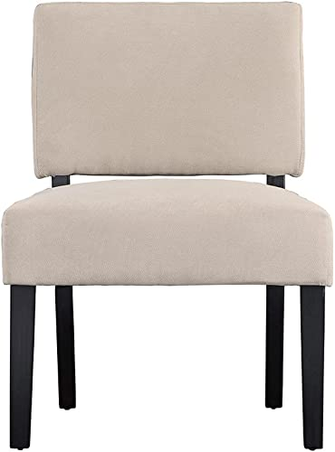 Linen Fabric Accent Living Room Chair Beige