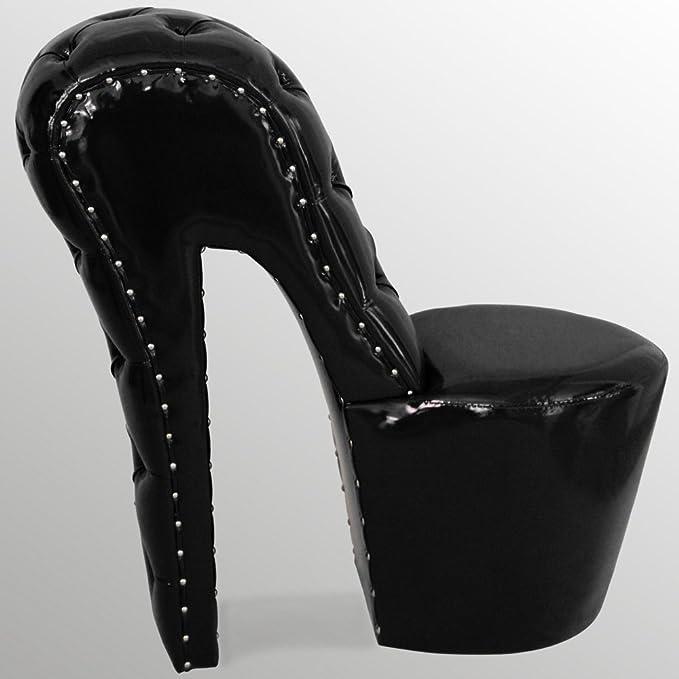 High Heel sedia di pelle moderno Designer Scarpa Poltrona Sedia OVP disponibile subito
