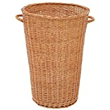 Round Willow Basket with Handles - 24''Dia x 35 1/2''H