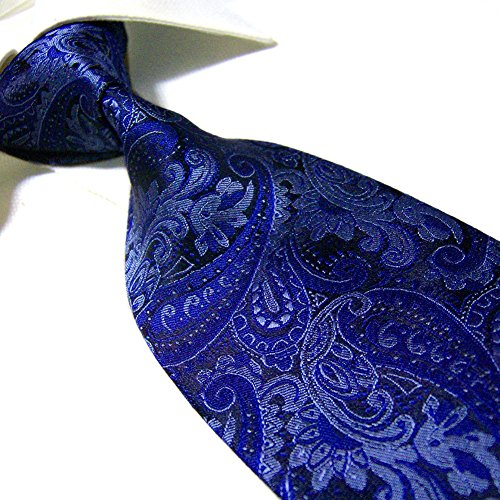 Extra Long Fashion Tie Paisley Men's Woven Jacquard Handmade Necktie