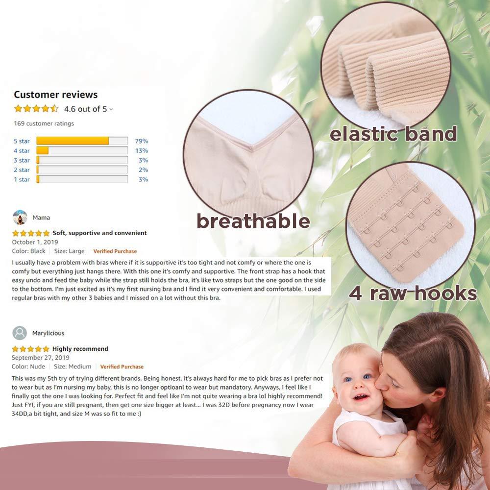Terramed Bamboo Silk Seamless Nursing Bra Padded Maternity Bra Pregnancy Breastfeeding
