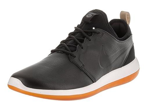 32d73f403521c Nike Men s Roshe Two Leather Prm Black Black White Running Shoe 10 Men US