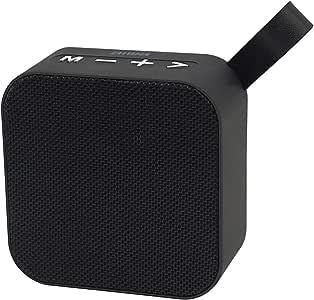 Aiwa Compact Bluetooth Speaker with FM Radio, USB/microSD/Aux inputs (ABS-19B)