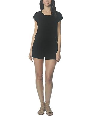 74cf6770d0e Amazon.com  32 DEGREES Ladies Short Jumpsuit. Black. Large.  Clothing