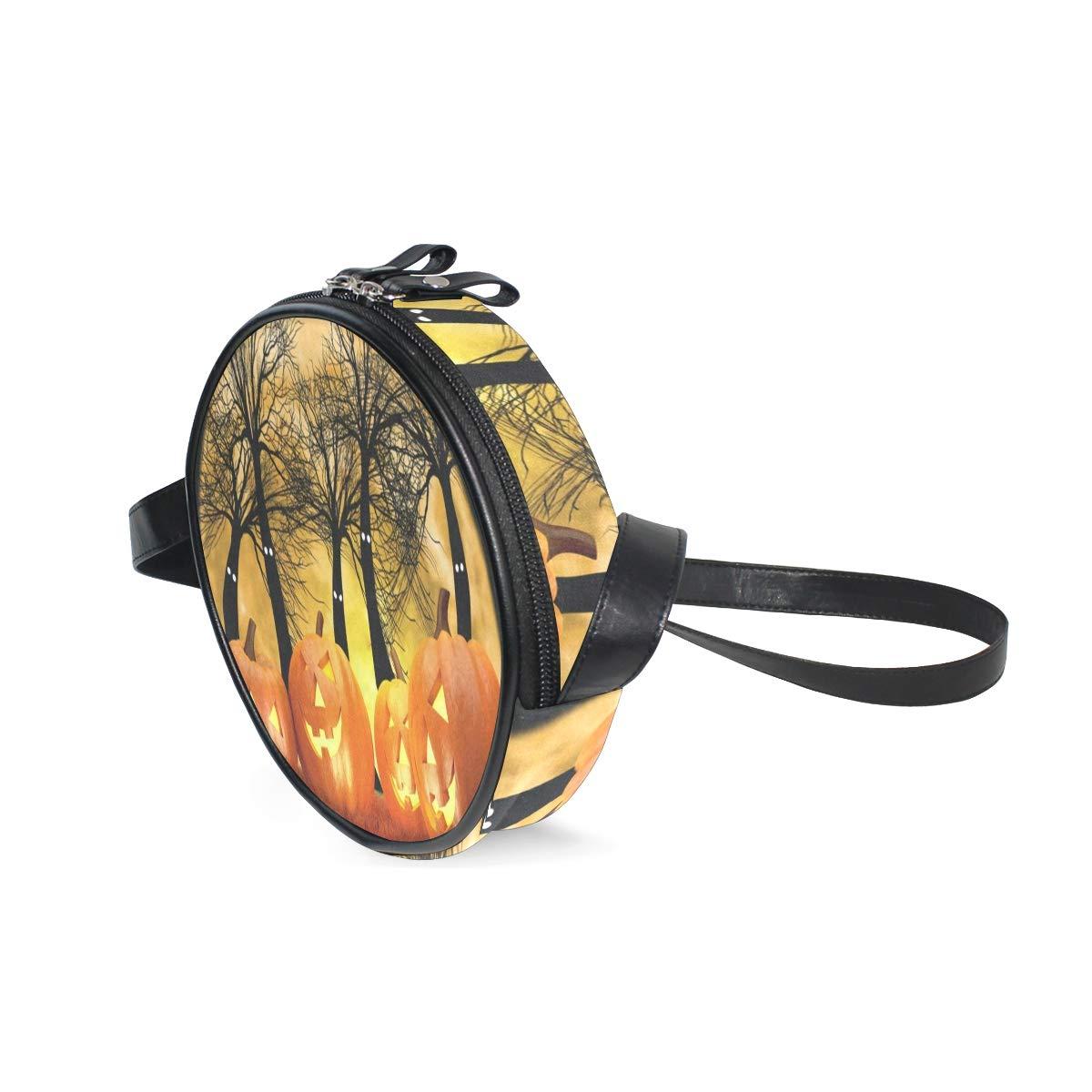 Amazon.com: Bolso redondo para mujer, diseño de calabaza y ...