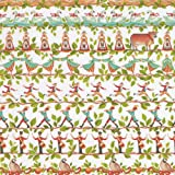 Caspari Entertaining with 12 Days Continuous Gift Wrapping Paper Roll, 8-Feet