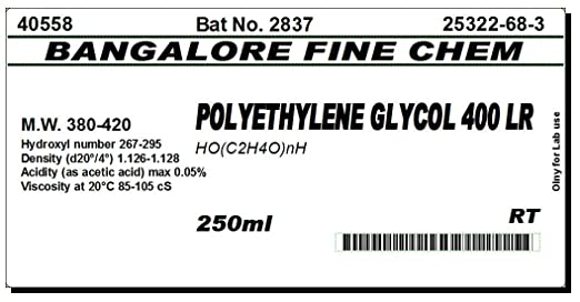 BFC POLYETHYLENE GLYCOL 400-250ml: Amazon in: Industrial