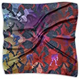 Wrestling Red Glitter Galactic Wrestler Women Floral Printed Square Scarfs Warm HeadKerchiefs Neckcheif Neck Scarves