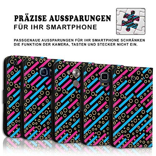 Wallet Book Style Flip Handy Tasche Case Schutz Hülle Schale Motiv Etui für Apple iPhone 5 / 5S - Design Flip MVD126