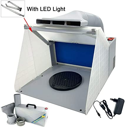 Für Modell Craft-Airbrush Sprühkabine Abluftfilter Extraktor Set mit LED-Licht