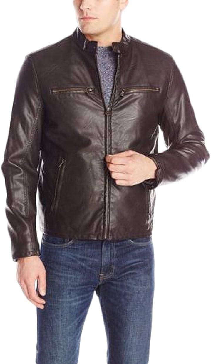New Men Designer Genuine Lambskin Soft Biker Leather Jacket N1245