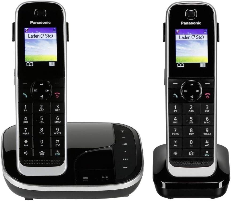 Panasonic KX-TGJ322 - Teléfono (Teléfono DECT, Altavoz, 250 entradas, Identificador de Llamadas, Servicios de Mensajes Cortos (SMS), Negro) [versión importada]: Amazon.es: Electrónica