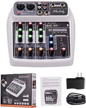 Amazon.com: Muslady AI-4 - Consola de audio digital con 4 ...