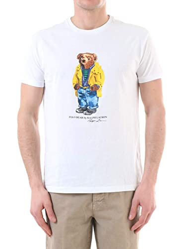 Camiseta Ralph Lauren Polo Bear Blanco Hombre S Blanco: Amazon.es ...