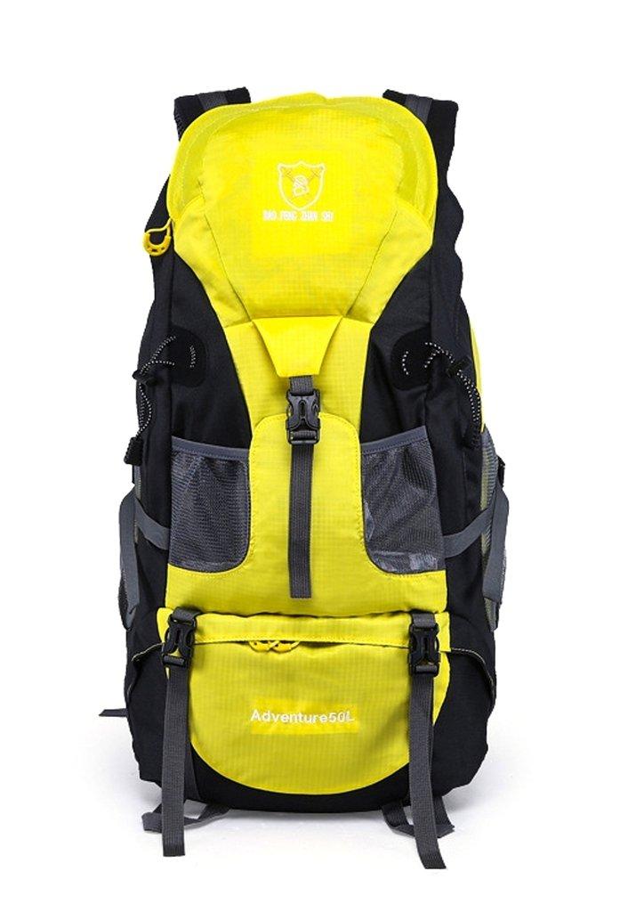 Gigantique 50lハイキング撥水Backpac登山キャンプ登山バッグ B01F1629LK イエロー イエロー