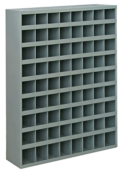 Durham 363-95 Gray Cold Rolled Steel 72 Opening Bin with Slope Self Design, 33-3 4 Width x 42 Height x 12 Depth
