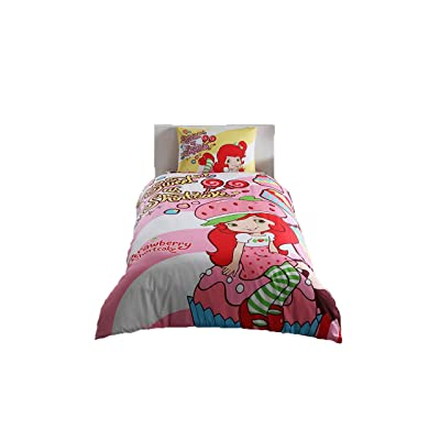 Disney Strawberry Shortcake Girl's Duvet/Quilt Cover Set Single / Twin Size Kids Bedding: Kitchen & Dining