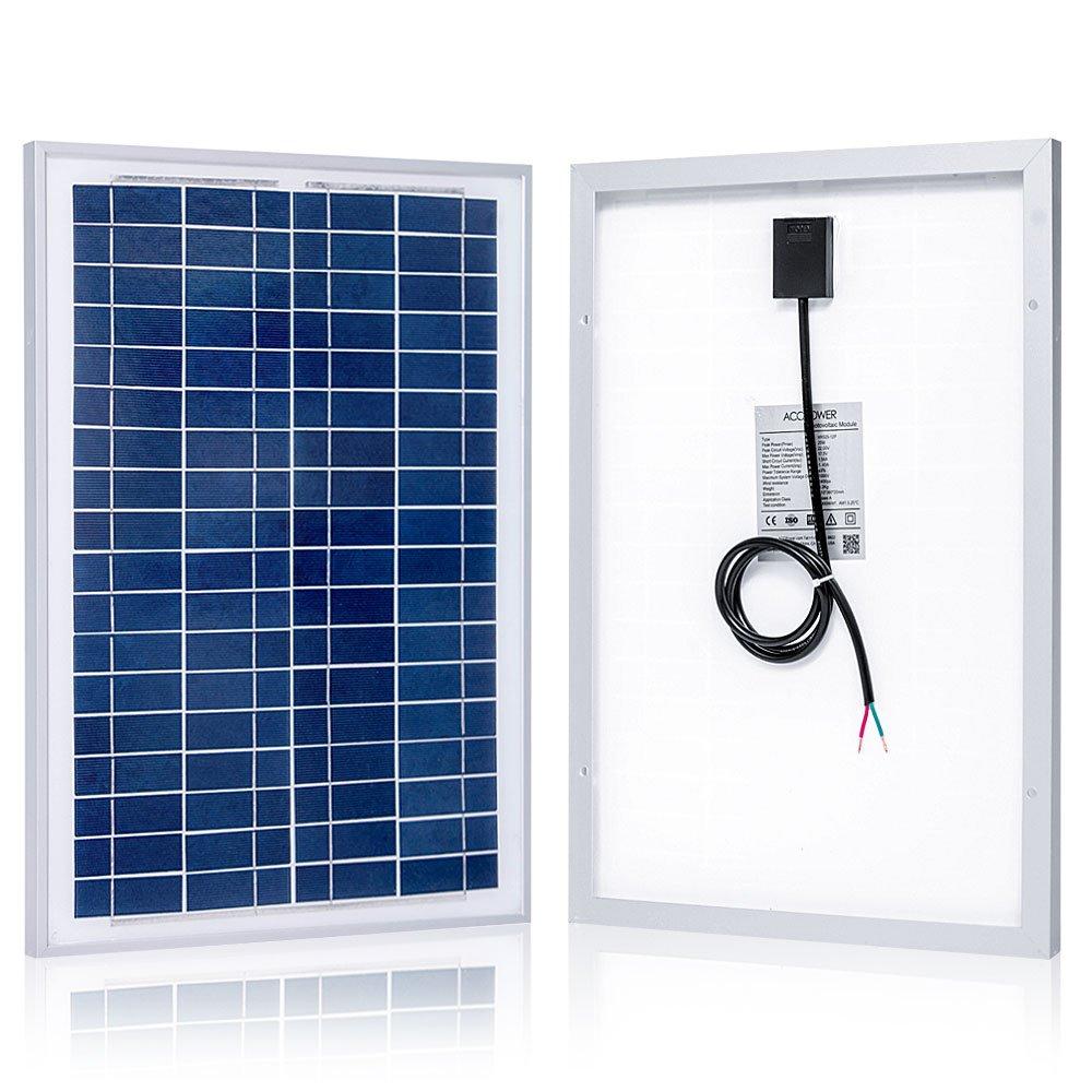 Amazon.com : ACOPOWER 25 Watt 25W Polycrystalline Photovoltaic PV ...
