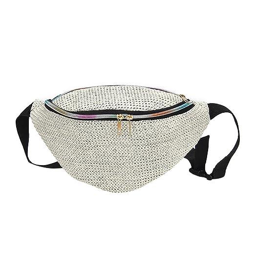3c36c4648cee Amazon.com: DENER❤ Women Straw Chest Waist Bags Shoulder Bag ...