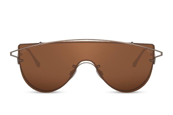Cheapass Gafas de sol Grandes Modernas Gafas Marrones ...