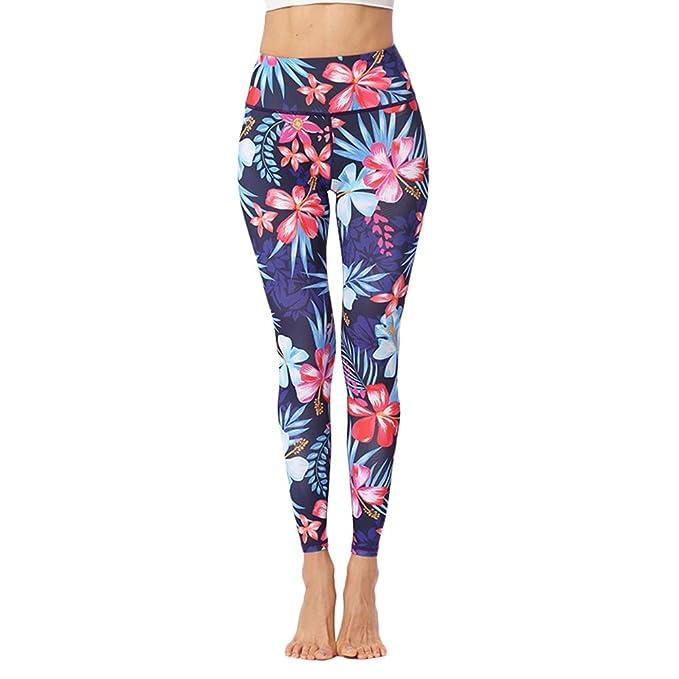 Kanggest.Mujer Pantalones Yoga de Pilates Flores única Mujer ...