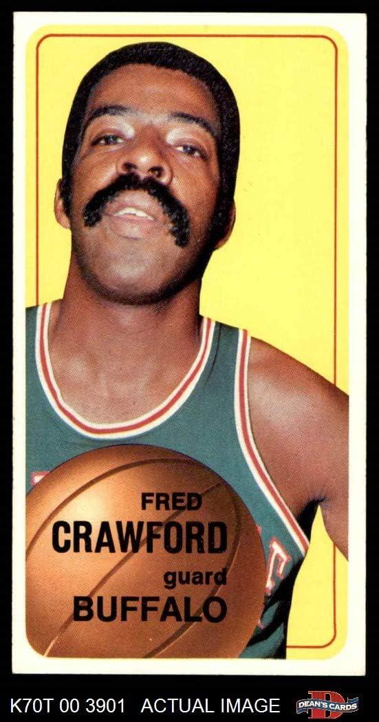 1970 Topps # 162 Fred Crawford Buffalo Braves-BskB (Basketball Card) Dean's Cards 5 - EX Braves-BskB 618MeuMk7dL