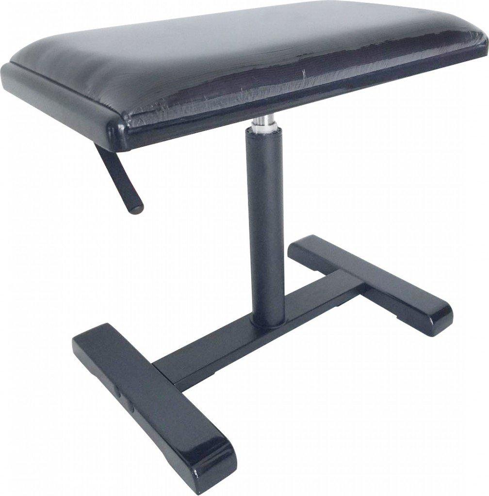 Stagg PBH 740 BKP VBK Hydraulic Piano Bench - Highloss Black with Velvet Black Top