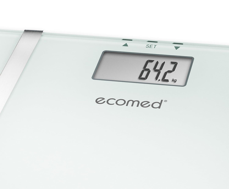 Ecomed BS-70E - Báscula digital de baño con función de análisis, color blanco: Amazon.es: Salud y cuidado personal