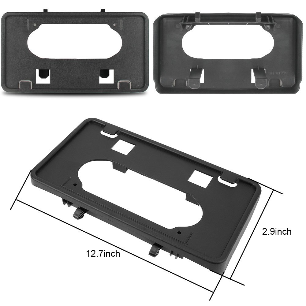 Winunite F150 Bumper Guards Pads Insert Replacement+Front Licenses Plate Frame Bracket Mounting Frame Holder for 2009-2014 F150(Replaces OE Part: FO1068134 and FO1053100) by Winunite (Image #4)