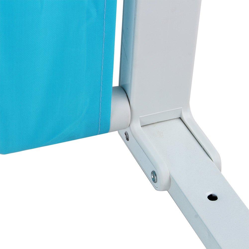 Blau 180 cm Bettgitter Bettschutzgitter Klappbar Tragbares Faltbar bettschutzgitter f/ür Baby Kinder 180 cm// 150 cm Rosa//Blau