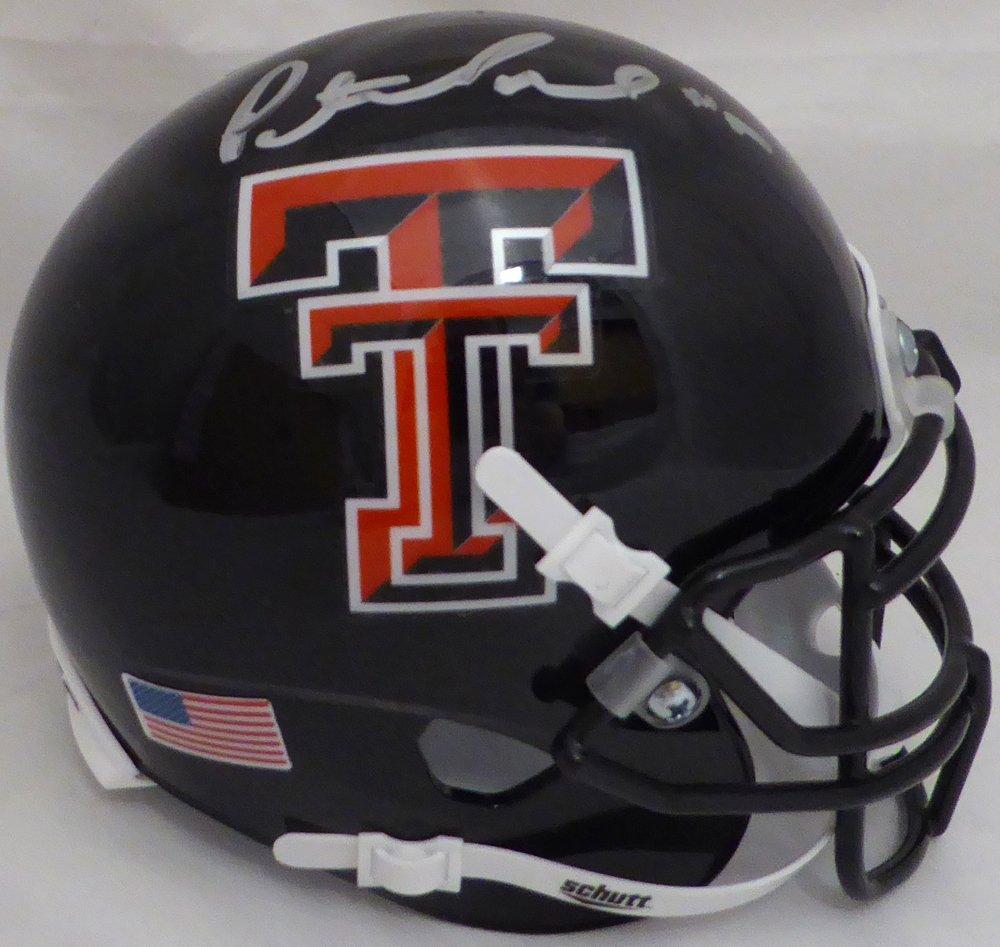 Patrick Mahomes II Autographed Texas Tech Red Raiders Black Mini Helmet Beckett BAS