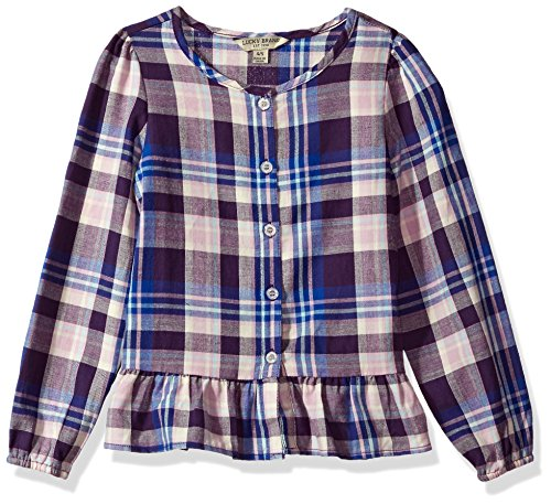 Lucky Brand Big Girls'Long Sleeve Fashion Top, Parker Crown Jewel, Medium (8/10) by Lucky Brand