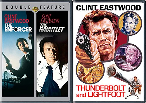 Clint Eastwood Dirty Harry Gauntlet & Enforcer + Thunderbolt & Lightfoot 3 Movie Collection Film pack
