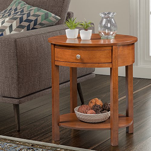 Convenience Concepts 501042CN Classic Accents Cypress End Table, Walnut