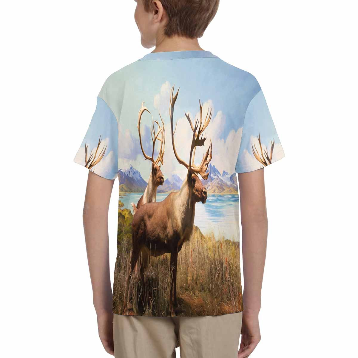 XS-XL INTERESTPRINT Herd of Deer by The Lake Youth T-Shirts