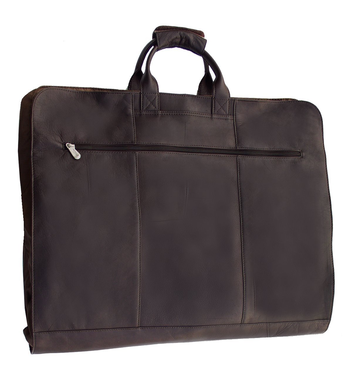 Piel Leather Traveler Garment Cover in Chocolate by Piel Leather