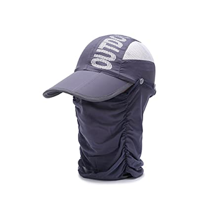 c87fe86d Unisex 360 Sun Protection Hat Flap Visors Baseball Cap for Outdoor Swimming  Fishing Golf with Neck