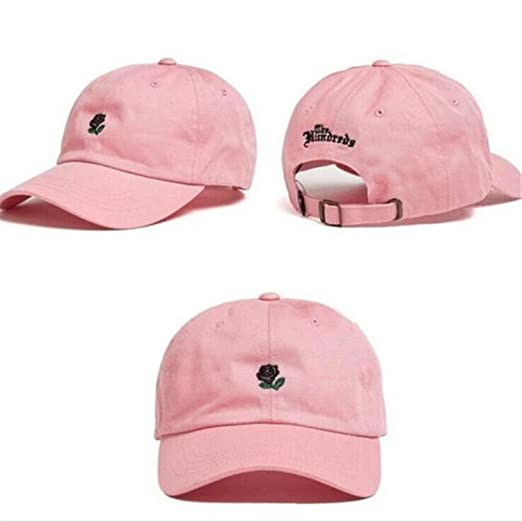 e3e063fdcd893 Amazon.com  The Hundreds Rose Embroidered Hat Baseball Cap Fashion 2017 Unique  Adjustable Embroidered Rose Casual Hats  Clothing