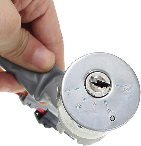 Nrpfell Cerradura de Interruptor de Arranque de Encendido de 6 Pines para Autom/óVil con 2 Llaves para 1993-2002 306 Hatchback//Coupe//Estate//Saloon 416299