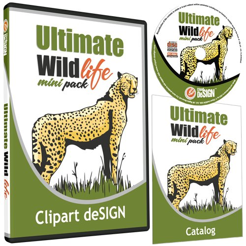 Wildlife/Animals Clipart-Vinyl Cutter Plotter Clip Art Images-Sign Design Vector Art Graphics CD-ROM