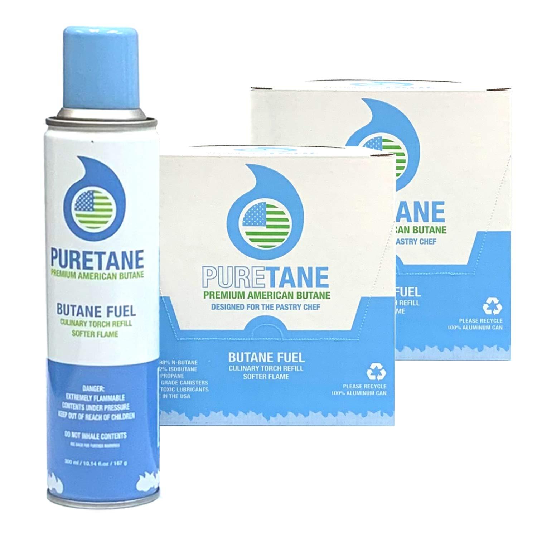 Puretane N-Butane Food-Grade Refined 11X Filtered Butane Gas 24 Pack by Puretane