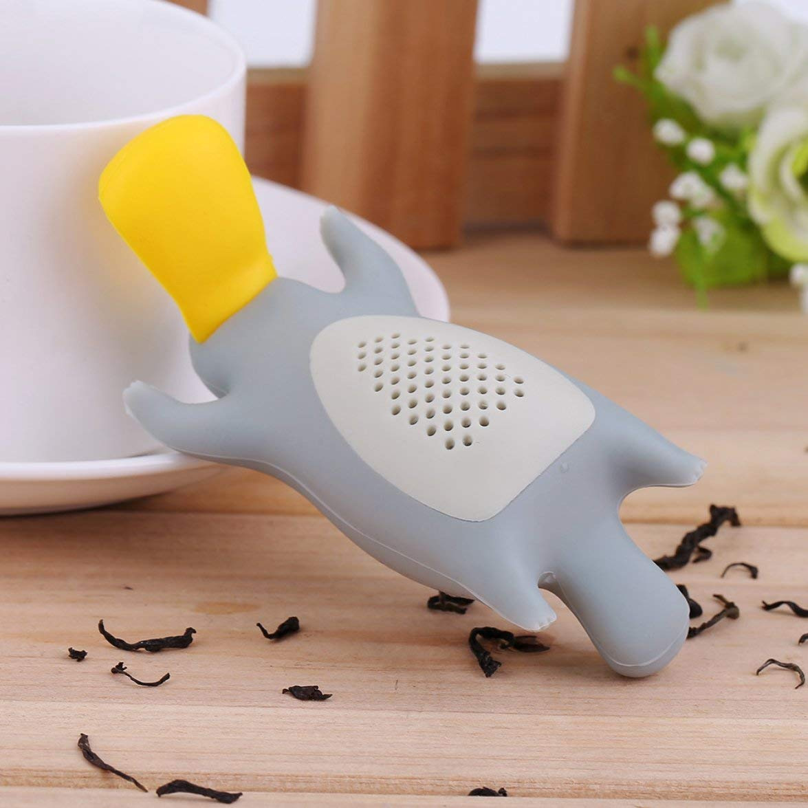 Kongqiabona colador de t/é Creativo Platypus Forma Colador de T/é Hogar Interesante Infusor de T/é Infusor Filtro Tetera Para T/é Caf/é Drinkware